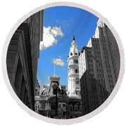 Billy Penn Blue Round Beach Towel by Photographic Arts And Design Studio