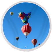 Bird Balloon Round Beach Towel