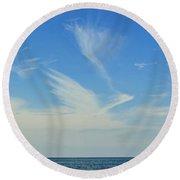 Bird Cloud Round Beach Towel
