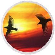 Bird Lovers Round Beach Towel