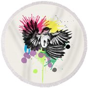 Bird Round Beach Towel by Mark Ashkenazi