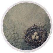 Bird Nest Round Beach Towel