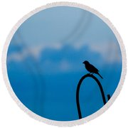 Bird Silhouette  Round Beach Towel