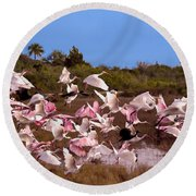 Birds Call To Flight Round Beach Towel