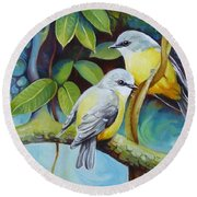 Birds Round Beach Towel