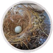 Birds Nest - Perfect Home Round Beach Towel