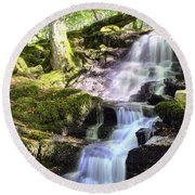 Birks Of Aberfeldy Cascading Waterfall - Scotland Round Beach Towel