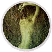 Birth Of A Dryad Round Beach Towel