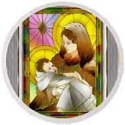 Birth Of The Christ Round Beach Towel