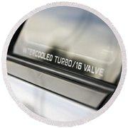 Birthday Car - Intercooled Turbo 16 Valve Round Beach Towel