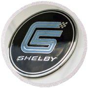 Birthday Car - Shelby Logo Round Beach Towel