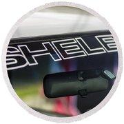 Birthday Car - Shelby Windshield Round Beach Towel