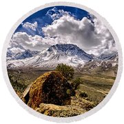 Bishop California Round Beach Towel