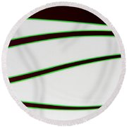 Round Beach Towel featuring the photograph Black And Green by Joe Kozlowski