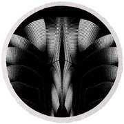 Round Beach Towel featuring the mixed media Black And White by Rafael Salazar
