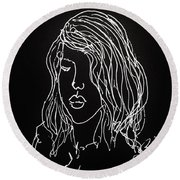Black Book 07 Round Beach Towel by Rand Swift