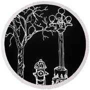 Black Book 08 Round Beach Towel by Rand Swift