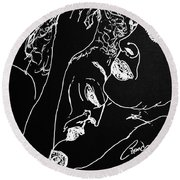 Black Book 25 Round Beach Towel by Rand Swift