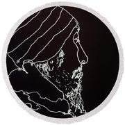 Black Book Series 03 Round Beach Towel by Rand Swift