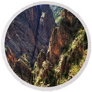 Black Canyon Of The Gunnison National Park I Round Beach Towel