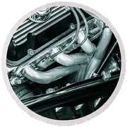 Black Cobra - Ford Cobra Engines Round Beach Towel