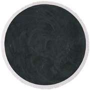 Round Beach Towel featuring the painting Black Color Of Energy by Ania M Milo