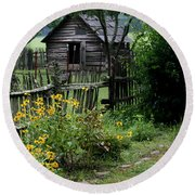Black-eyed Susans Round Beach Towel by Cathy Harper