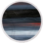 Black Gray Red After Rothko Round Beach Towel