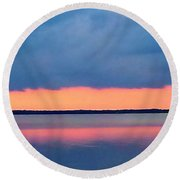 Black Hammock Sunset 2 Round Beach Towel