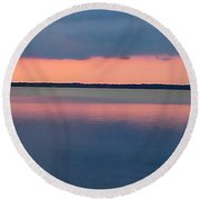 Black Hammock Sunset Round Beach Towel
