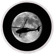 Black Hawk Moon Round Beach Towel by Al Powell Photography USA