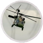 Black Hawk Swoops Round Beach Towel