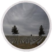 Black Hills Cemetery Round Beach Towel