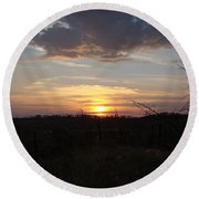 Round Beach Towel featuring the photograph Black Hills Sunset IIi by Cathy Anderson