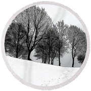 Round Beach Towel featuring the photograph Black Trees by Randi Grace Nilsberg