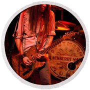 Blackberry Smoke Guitarist Charlie Starr Round Beach Towel