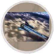 Blackbird Round Beach Towel by Dave Luebbert