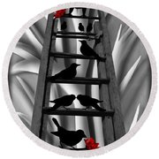 Blackbird Ladder Round Beach Towel