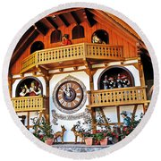 Blackforest Cuckoo Clock Round Beach Towel