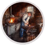 Blacksmith - The Smith Round Beach Towel