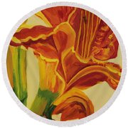 Blazing Glory Round Beach Towel