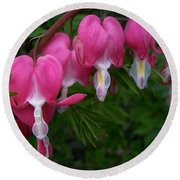 Bleeding Heart  Round Beach Towel