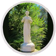 Blessed Francis Xavier Seelos C.ss.r. - New Orleans La   Round Beach Towel by Deborah Lacoste