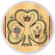 Blessed Trinity Round Beach Towel