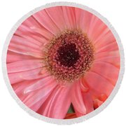 Round Beach Towel featuring the photograph Bliss by Rory Sagner