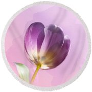 Round Beach Towel featuring the photograph Blissfully Purple by Betty LaRue