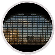 Block View Round Beach Towel