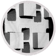 Blocks Round Beach Towel