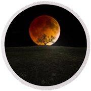 Blood Moon Round Beach Towel