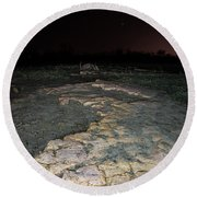 Blood Moon On The Rock Round Beach Towel